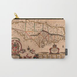 Map Of Jamaica 1671 Carry-All Pouch