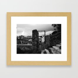 Door to nowhere. Framed Art Print