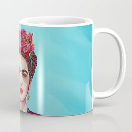 Frida  with flowers Coffee Mug