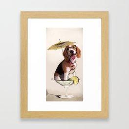Tessi the party Beagle Framed Art Print