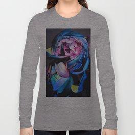 Rose chalk drawing Long Sleeve T-shirt