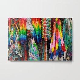 Paper Cranes Metal Print