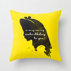 Unbirthday – Alice Silhouette Quote Throw Pillow
