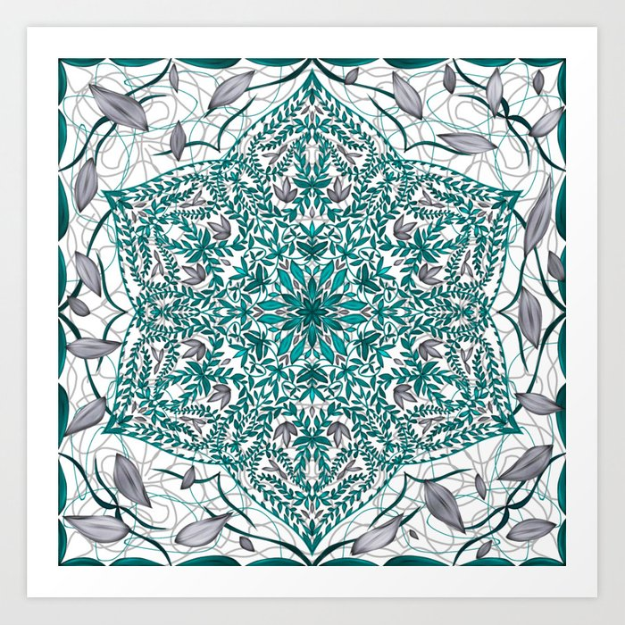 Woven Vines of Silver and Life Art Print