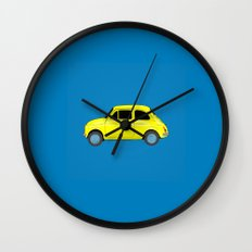 A tiny Fiat (blue) Wall Clock