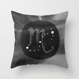 Scorpio Zodiac Watercolor Throw Pillow