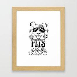 Pits & Giggles B+W Framed Art Print