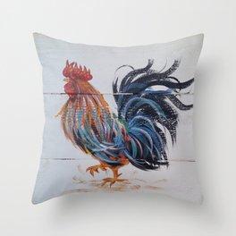 Le Coq of Le Walk Throw Pillow