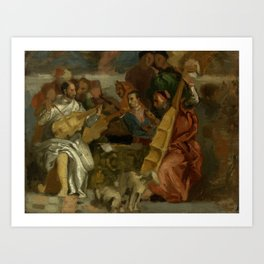 """Eugène Delacroix """"Musicians, after Veronese, a detail from The Marriage at Cana"""" Art Print"""