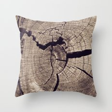 Cracks in Time Throw Pillow