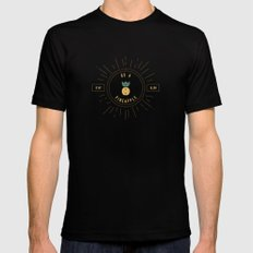 Be a Pineapple - Stay Golden Black MEDIUM Mens Fitted Tee