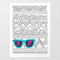 Aztec Wayfarer Art Print