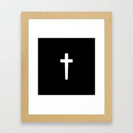 Cross - White Framed Art Print