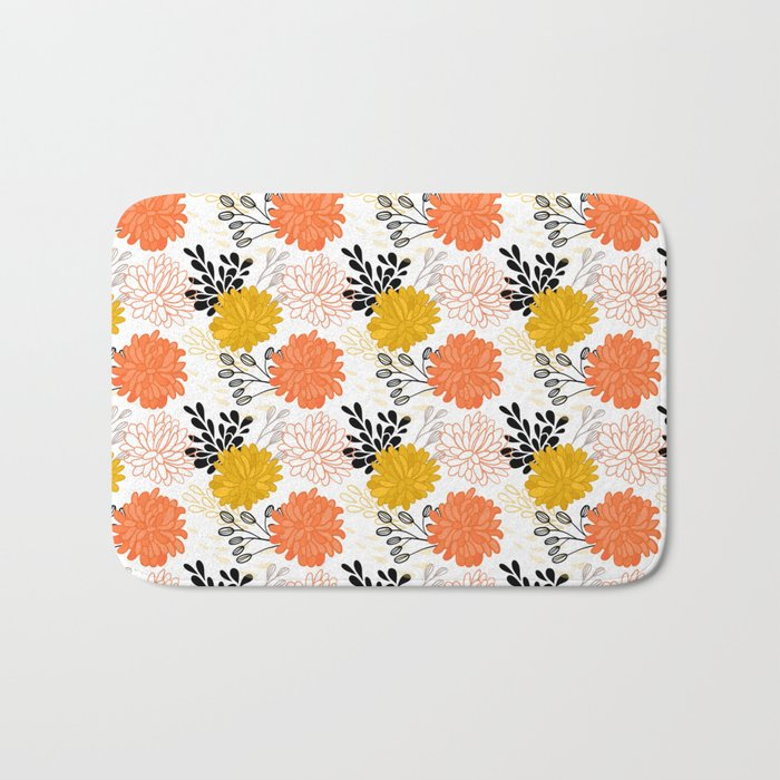 Flowers Pattern Bath Mat