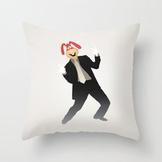 Manic Noid Throw Pillow