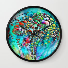 Colored Tafoni 4 Wall Clock