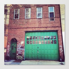 Green Door Canvas Print