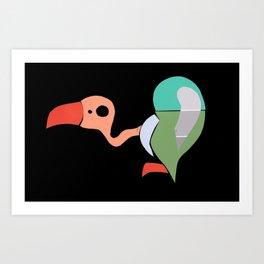 Paint Chip Vulture Art Print