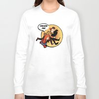 tintin Long Sleeve T-shirts featuring The Adventures of Pond and Doctah by The Longfall of 1979