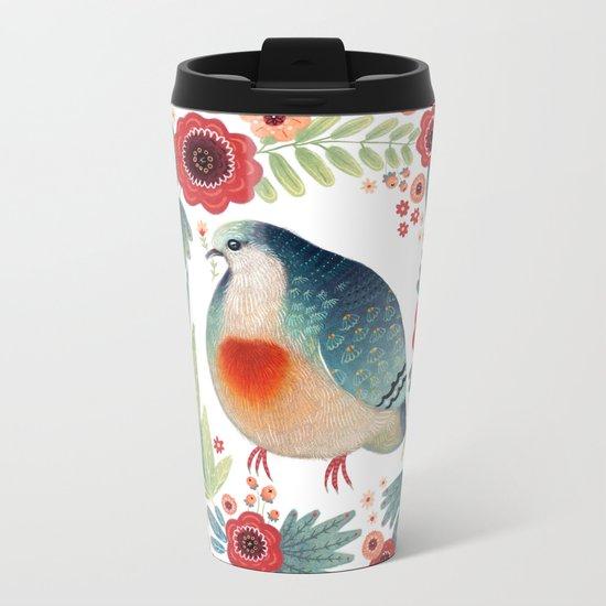 Fruit Dove I Metal Travel Mug