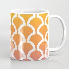 Classic Fan or Scallop Pattern 460 Yellow Orange and Magenta Coffee Mug