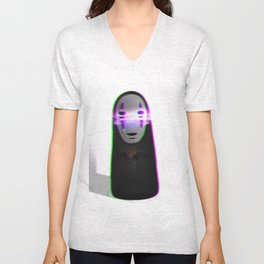 Glitched No Face Unisex V-Neck