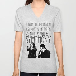 Root & Shaw - Symphony - Person of interest Unisex V-Neck