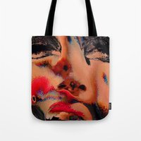 hologram Tote Bags featuring The Betrayal by Luc Étrier