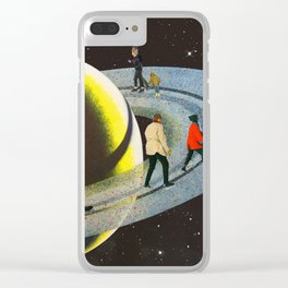 Saturn's Rink Clear iPhone Case