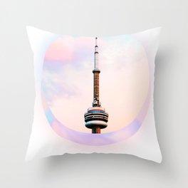CN Tower Dreams Throw Pillow