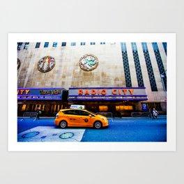 NYC Radio City Art Print