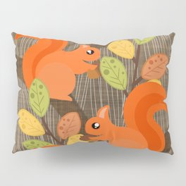 Three Squirrels In A Tree Pillow Sham