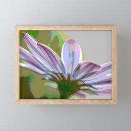 Purple Hints Comic Filter Color Framed Mini Art Print