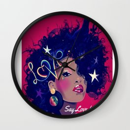 Say Unicorn Girl Wall Clock