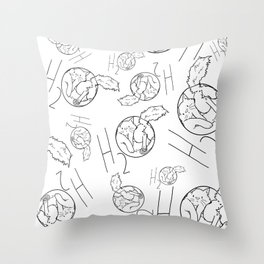 H2Cat Throw Pillow