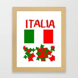Italy  flag Framed Art Print