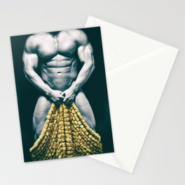 Draped Male Nude - Distressed Treatment (001) Stationery Cards