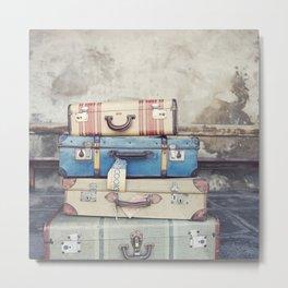 Vintage Suitcases Metal Print