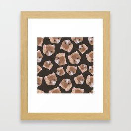 Cat from a geometrical pattern Framed Art Print