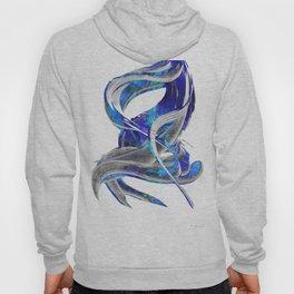 Blue White And Gray Art - Flowing 3 - Sharon Cummings Hoody