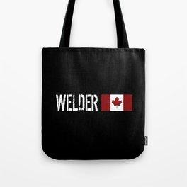 Welder: Canadian Flag Tote Bag