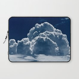 Puffy Cumulus clouds on Deep Blue Sky Laptop Sleeve