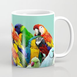 Parrot Home Doecor Duck Egg Blue Teal Blue Coffee Mug