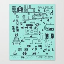 Retro Arcade Mash Up Canvas Print