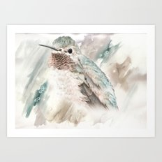 Watercolored Bird of Wonder Art Print