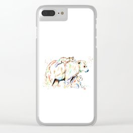 Bear Family - and then there were 3 Clear iPhone Case