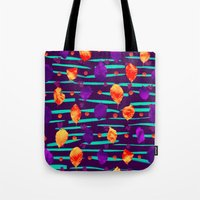 psychadelic Tote Bags featuring Psychadelic Natural Pattern #3 by Andrej Balaz