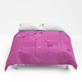 Rosebud Square Pixel Color Accent Comforters