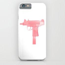Pink machine gun iPhone Case
