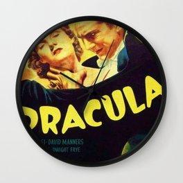 Vintage 1931 Bela Lugosi Dracula Movie Advertisement Poster Wall Clock